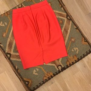J.Crew No.2 Red Pencil Skirt sz 0P